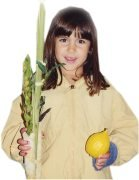 Girl with Lulav and Etrog