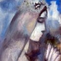 Marc Chagall - Bride with Fan (detail)