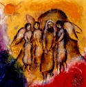 Chagall - Abraham's Three Visitors